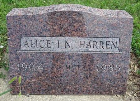 HARREN, ALICE - Haakon County, South Dakota | ALICE HARREN - South Dakota Gravestone Photos