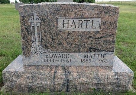 HARTL, MATTIE - Haakon County, South Dakota   MATTIE HARTL - South Dakota Gravestone Photos