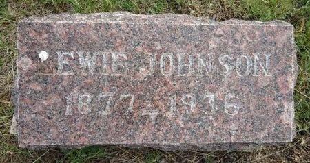JOHNSON, EWIE - Haakon County, South Dakota | EWIE JOHNSON - South Dakota Gravestone Photos
