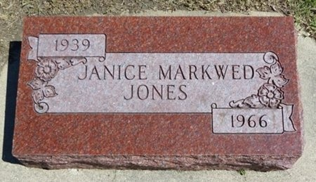 MARKWED JONES, JANICE - Haakon County, South Dakota | JANICE MARKWED JONES - South Dakota Gravestone Photos