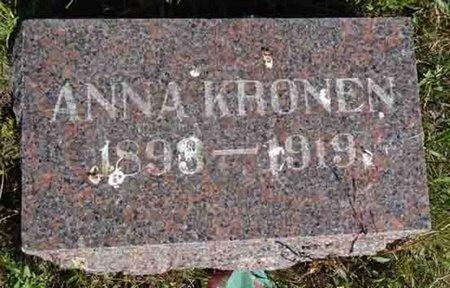 KRONEN, ANNA - Haakon County, South Dakota   ANNA KRONEN - South Dakota Gravestone Photos
