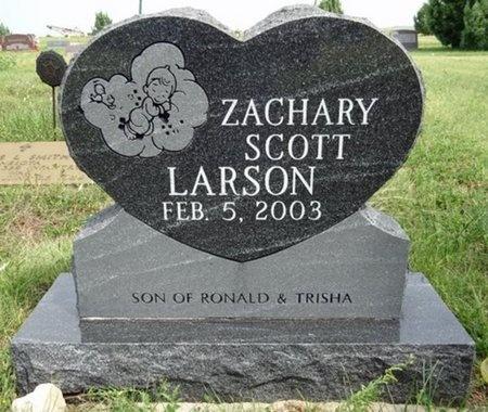 LARSON, ZACHARY - Haakon County, South Dakota | ZACHARY LARSON - South Dakota Gravestone Photos
