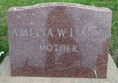 LEACH, AMELIA - Haakon County, South Dakota | AMELIA LEACH - South Dakota Gravestone Photos