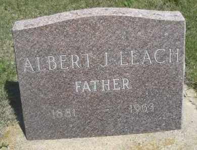 LEQACH, ALBERT J. - Haakon County, South Dakota | ALBERT J. LEQACH - South Dakota Gravestone Photos