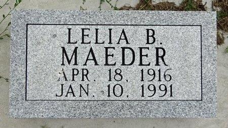 MAEDER, LELIA - Haakon County, South Dakota   LELIA MAEDER - South Dakota Gravestone Photos