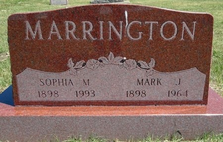 MARRINGTON, SOPHIA - Haakon County, South Dakota | SOPHIA MARRINGTON - South Dakota Gravestone Photos
