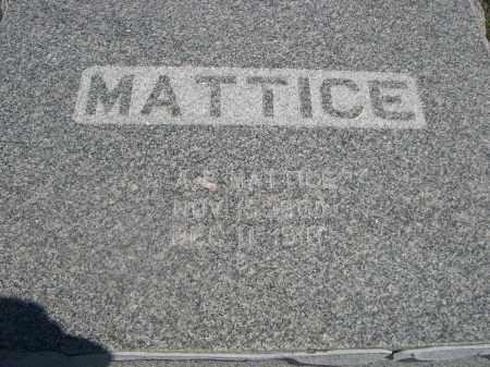 MATTICE, A.E. - Haakon County, South Dakota   A.E. MATTICE - South Dakota Gravestone Photos