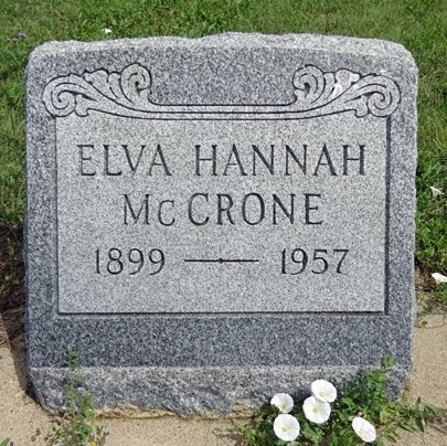 MCCRONE, ELVA - Haakon County, South Dakota | ELVA MCCRONE - South Dakota Gravestone Photos