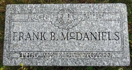 MCDANIELS, FRANK - Haakon County, South Dakota | FRANK MCDANIELS - South Dakota Gravestone Photos