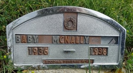 MCNALLY, BABY - Haakon County, South Dakota   BABY MCNALLY - South Dakota Gravestone Photos