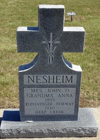 NESHEIM, ANNA - Haakon County, South Dakota | ANNA NESHEIM - South Dakota Gravestone Photos