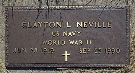 NEVILLE, CLAYTON - Haakon County, South Dakota   CLAYTON NEVILLE - South Dakota Gravestone Photos