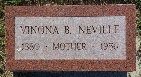 NEVILLE, VINONA - Haakon County, South Dakota   VINONA NEVILLE - South Dakota Gravestone Photos