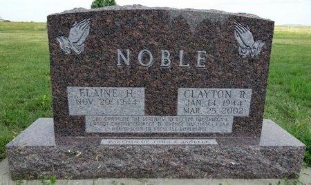 NOBLE, ELAINE - Haakon County, South Dakota   ELAINE NOBLE - South Dakota Gravestone Photos