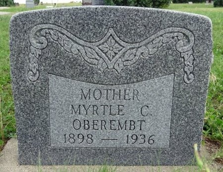 OBEREMBT, MYRTLE - Haakon County, South Dakota | MYRTLE OBEREMBT - South Dakota Gravestone Photos
