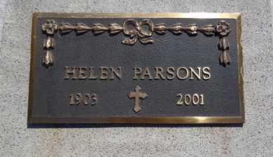 PARSONS, HELEN - Haakon County, South Dakota   HELEN PARSONS - South Dakota Gravestone Photos
