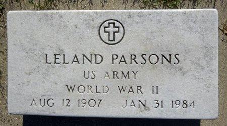 PARSONS, LELAND - Haakon County, South Dakota | LELAND PARSONS - South Dakota Gravestone Photos