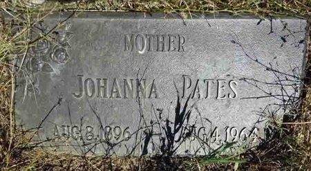 PATES, JOHANNA - Haakon County, South Dakota   JOHANNA PATES - South Dakota Gravestone Photos