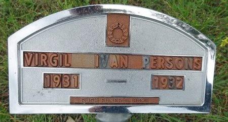 PERSONS, VIRGIL - Haakon County, South Dakota   VIRGIL PERSONS - South Dakota Gravestone Photos