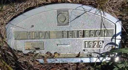PETERSON, HILDA - Haakon County, South Dakota | HILDA PETERSON - South Dakota Gravestone Photos