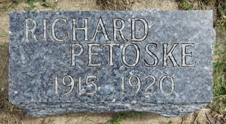 PETOSKE, RICHARD - Haakon County, South Dakota | RICHARD PETOSKE - South Dakota Gravestone Photos