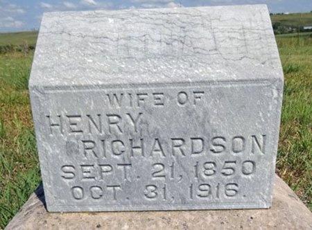 RICHARDSON, MARTHA - Haakon County, South Dakota   MARTHA RICHARDSON - South Dakota Gravestone Photos