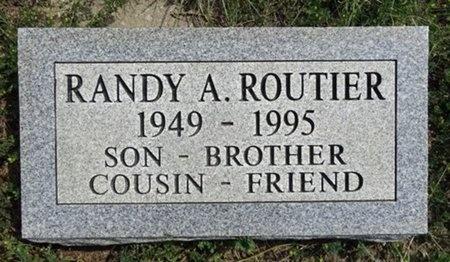 ROUTIER, RANDY - Haakon County, South Dakota | RANDY ROUTIER - South Dakota Gravestone Photos