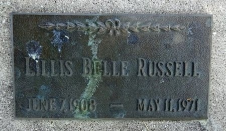 RUSSELL, LILLIS - Haakon County, South Dakota | LILLIS RUSSELL - South Dakota Gravestone Photos