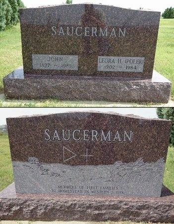 SAUCERMAN, LEORA - Haakon County, South Dakota | LEORA SAUCERMAN - South Dakota Gravestone Photos