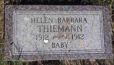 THIEMANN, HELEN - Haakon County, South Dakota   HELEN THIEMANN - South Dakota Gravestone Photos