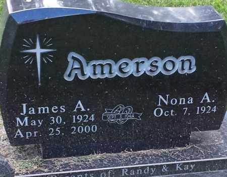 AMERSON, JAMES A - Hamlin County, South Dakota | JAMES A AMERSON - South Dakota Gravestone Photos