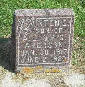 AMERSON, VINTON D - Hamlin County, South Dakota | VINTON D AMERSON - South Dakota Gravestone Photos