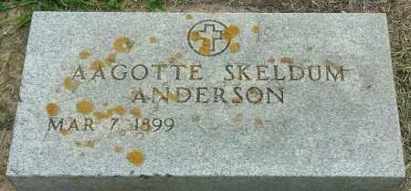 SKELDUM ANDERSON, AGGOTTE - Hamlin County, South Dakota | AGGOTTE SKELDUM ANDERSON - South Dakota Gravestone Photos