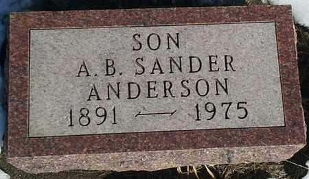 ANDERSON, A B SANDER - Hamlin County, South Dakota   A B SANDER ANDERSON - South Dakota Gravestone Photos