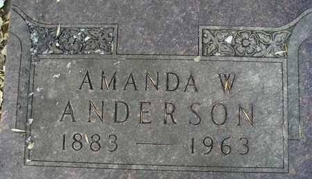 ANDERSON, AMANDA W - Hamlin County, South Dakota   AMANDA W ANDERSON - South Dakota Gravestone Photos