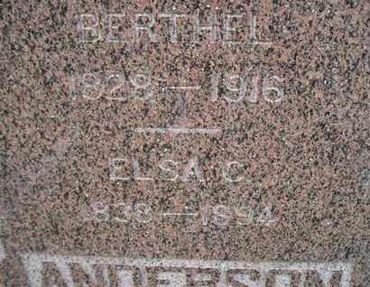 ANDERSON, ELSA C - Hamlin County, South Dakota | ELSA C ANDERSON - South Dakota Gravestone Photos