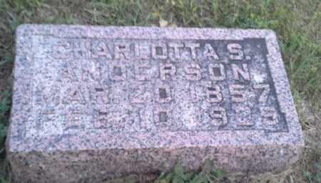 ANDERSON, CHARLOTTA S - Hamlin County, South Dakota   CHARLOTTA S ANDERSON - South Dakota Gravestone Photos