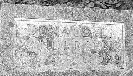 ANDERSON, DONALD L - Hamlin County, South Dakota | DONALD L ANDERSON - South Dakota Gravestone Photos