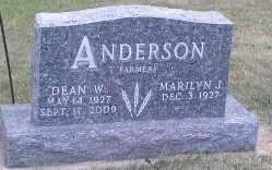 ANDERSON, DEAN W - Hamlin County, South Dakota   DEAN W ANDERSON - South Dakota Gravestone Photos
