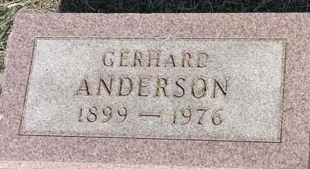 ANDERSON, GERHARD - Hamlin County, South Dakota | GERHARD ANDERSON - South Dakota Gravestone Photos