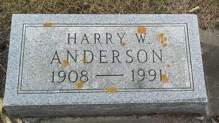 ANDERSON, HARRY W - Hamlin County, South Dakota | HARRY W ANDERSON - South Dakota Gravestone Photos