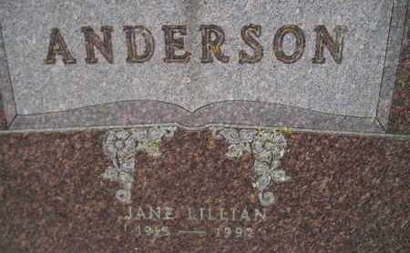 ANDERSON, JANE LILLIAN - Hamlin County, South Dakota | JANE LILLIAN ANDERSON - South Dakota Gravestone Photos