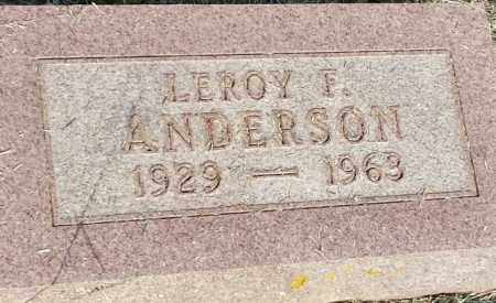 ANDERSON, LEROY F - Hamlin County, South Dakota | LEROY F ANDERSON - South Dakota Gravestone Photos