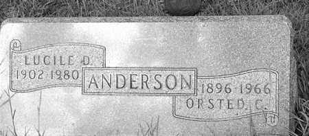 ANDERSON, LUCILE D - Hamlin County, South Dakota | LUCILE D ANDERSON - South Dakota Gravestone Photos