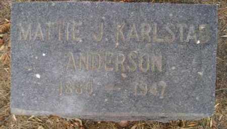 ANDERSON, MATTIE J - Hamlin County, South Dakota | MATTIE J ANDERSON - South Dakota Gravestone Photos