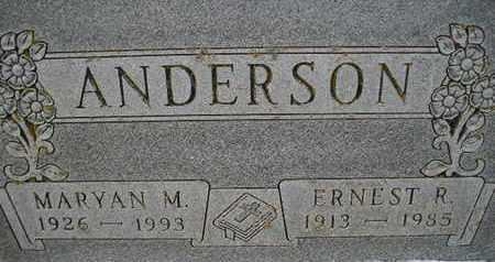 ANDERSON, ERNEST R - Hamlin County, South Dakota | ERNEST R ANDERSON - South Dakota Gravestone Photos