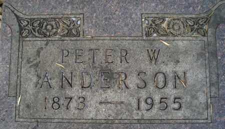 ANDERSON, PETER W - Hamlin County, South Dakota | PETER W ANDERSON - South Dakota Gravestone Photos
