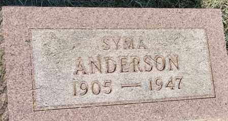 ANDERSON, SYMA - Hamlin County, South Dakota | SYMA ANDERSON - South Dakota Gravestone Photos