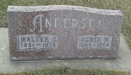 ANDERSON, AGNES W - Hamlin County, South Dakota | AGNES W ANDERSON - South Dakota Gravestone Photos
