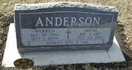 ANDERSON, JAYNE - Hamlin County, South Dakota | JAYNE ANDERSON - South Dakota Gravestone Photos